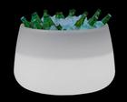 LED PFLANZGEFÄß CAMELIA 80 - Weiß, Design, Kunststoff (79/46,5cm)