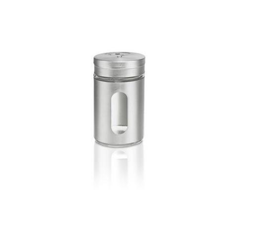 GEWÜRZDOSE - Klar/Edelstahlfarben, Basics, Glas/Metall (4,8/8,3cm) - Homeware