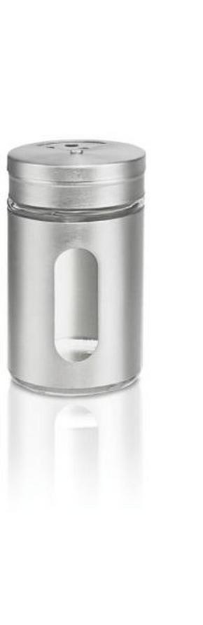 KRYDDBURK - klar/rostfritt stål-färgad, Basics, metall/glas (4,8/8,3cm) - Homeware