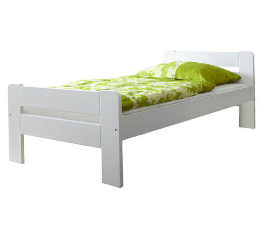 BETT Kiefer massiv 100/200 cm  - Weiß, Natur, Holz (100/200cm) - Carryhome