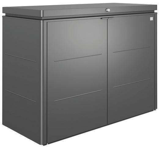 KISSENBOX - Dunkelgrau, Design, Metall (160/118/70cm) - Biohort