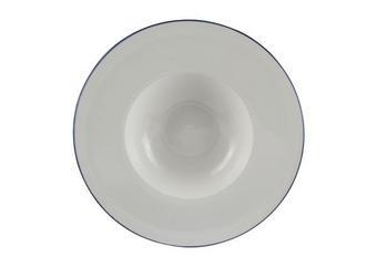 TALÍŘ NA PASTU - bílá/modrá, Konvenční, keramika (27,5cm) - Landscape