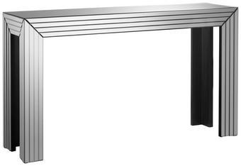 KONSOLE in Silberfarben - Silberfarben, Design, Glas/Holzwerkstoff (151/86,5/41cm) - Xora