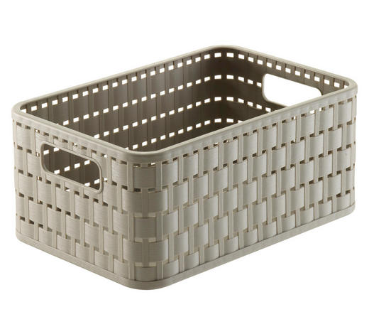 KORB - Beige, Basics, Kunststoff (23,7/15,8/10,8cm) - Rotho