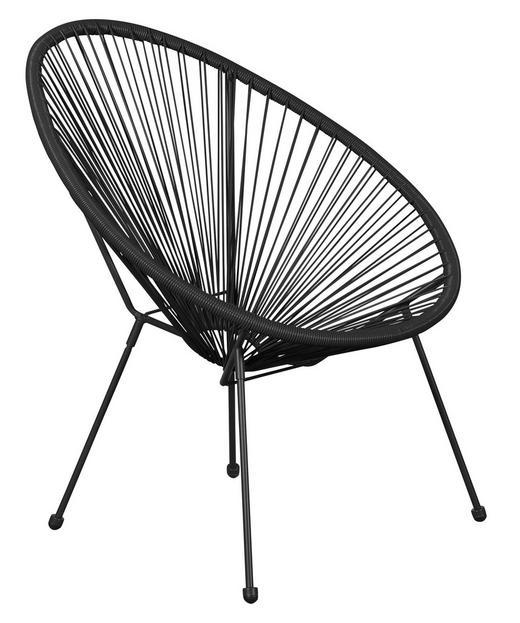 STUHL Schwarz - Schwarz, Design, Kunststoff/Metall (73/76/89cm)
