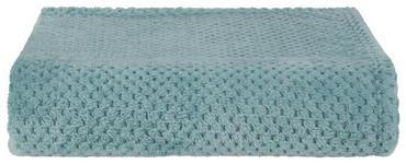 Kuscheldecke Belinda - Petrol, ROMANTIK / LANDHAUS, Textil (130/170cm) - James Wood