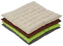 Sitzkissen Panama 40x40 cm - Anthrazit/Beige, KONVENTIONELL, Textil (40/40cm) - Ombra