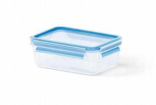 FRISCHHALTEDOSE 1,0 L - Blau/Transparent, Basics, Kunststoff (19.7/13.6/7.2cm) - EMSA
