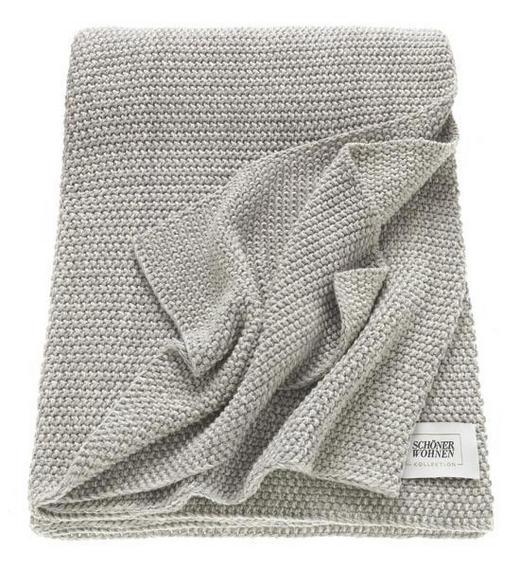 PLAID 130/170 cm Beige, Grau - Beige/Grau, Textil (130/170cm) - Schöner Wohnen