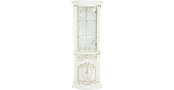 ECKVITRINE in Beige - Beige/Goldfarben, LIFESTYLE, Glas/Holzwerkstoff (56/205/56cm) - Cantus