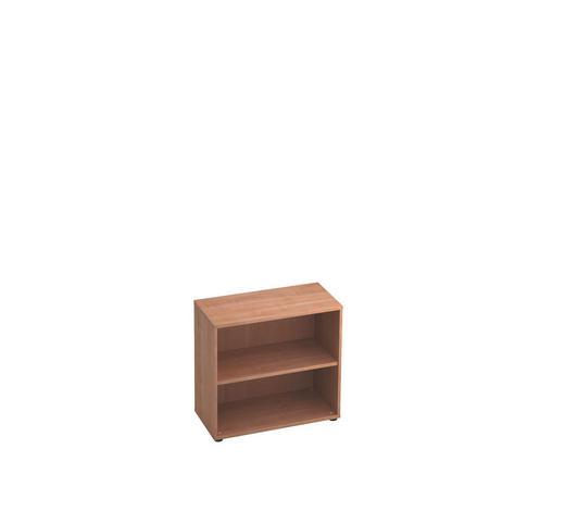 REGAL in Nussbaumfarben  - Nussbaumfarben/Schwarz, KONVENTIONELL, Holzwerkstoff/Kunststoff (80/74,8/40cm)