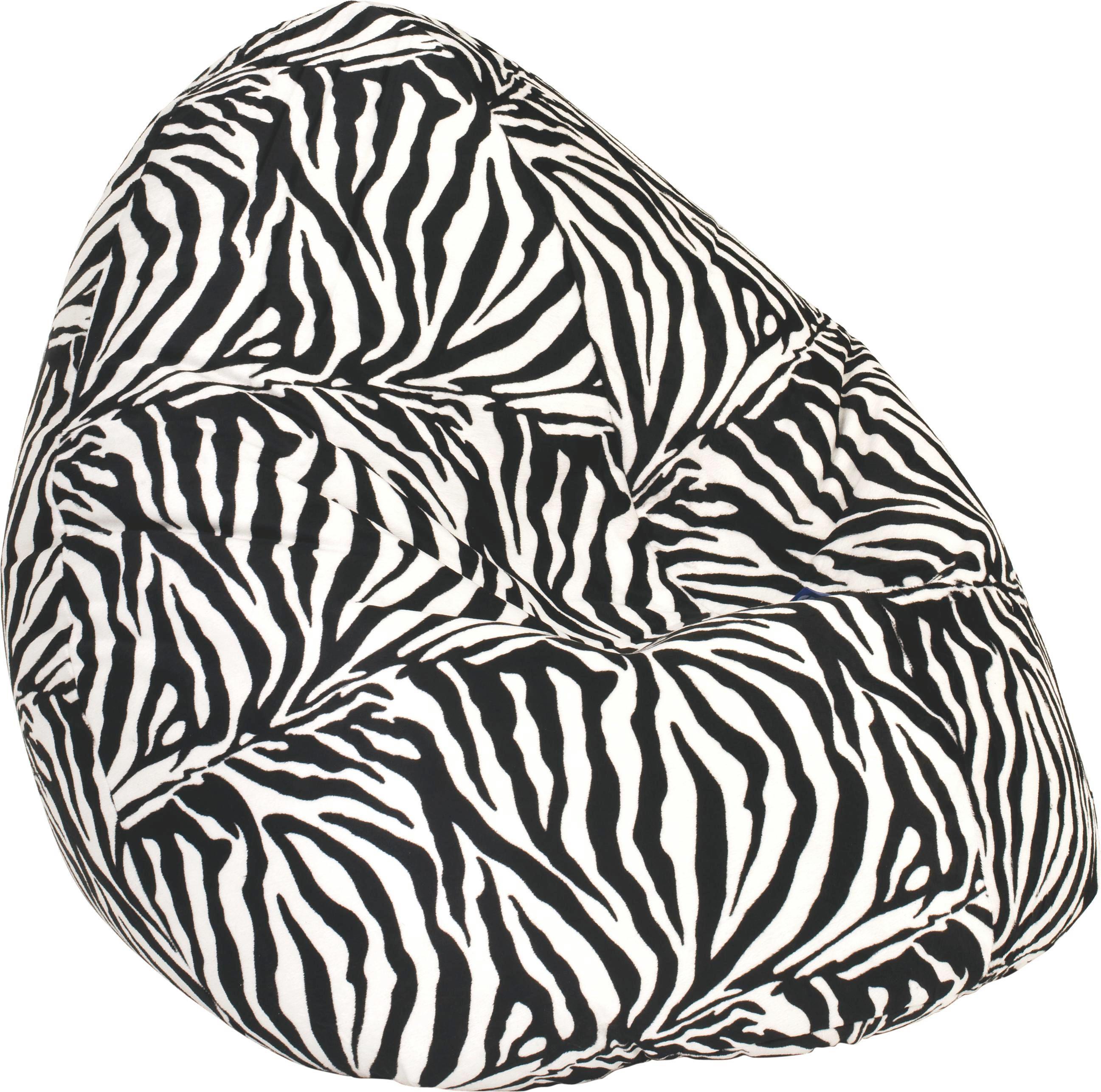 SITZSACK in Schwarz, Weiß Textil - Schwarz/Weiß, MODERN, Textil (80/130cm) - CARRYHOME