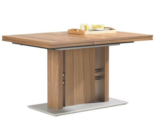 ESSTISCH in Holz, Metall 130(180)/90/75 cm - Nussbaumfarben, Design, Holz/Holzwerkstoff (130(180)/90/75cm)