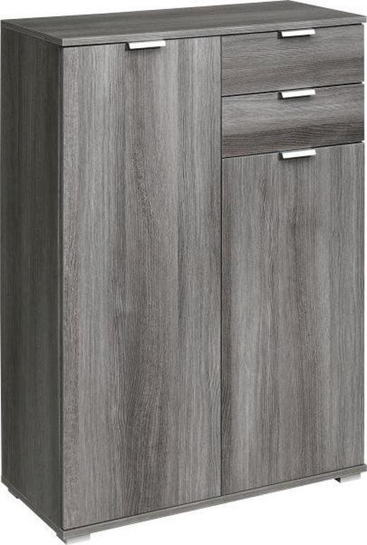KOMMODE Silbereichenfarben - Silberfarben/Silbereichenfarben, KONVENTIONELL, Holzwerkstoff/Kunststoff (71/101/35cm) - Cs Schmal