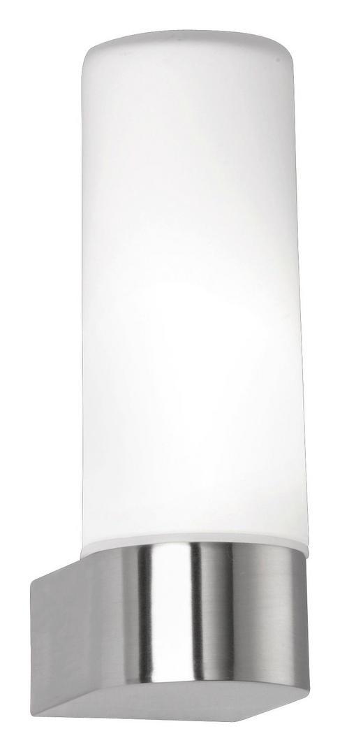 BADEZIMMER-WANDLEUCHTE - Opal/Weiß, LIFESTYLE, Glas/Metall (16,0/5,5/7,5cm)
