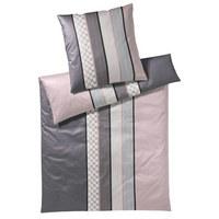 BETTWÄSCHE Makosatin Beige, Grau, Rosa, Schwarz 135/200 cm - Beige/Schwarz, Basics, Textil (135/200cm) - Joop!