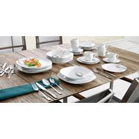 Porzellan  TAFELSERVICE  12-teilig - Weiß, Basics - BOXXX