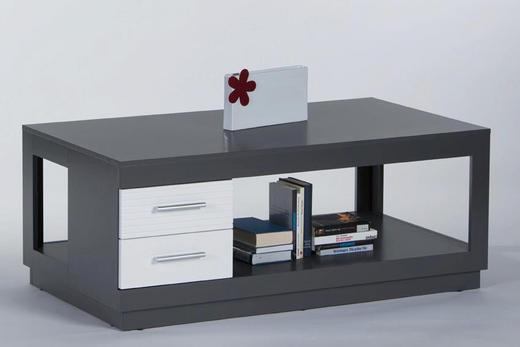 COUCHTISCH rechteckig Grau, Weiß - Weiß/Grau, Design (120/65/48cm) - Carryhome