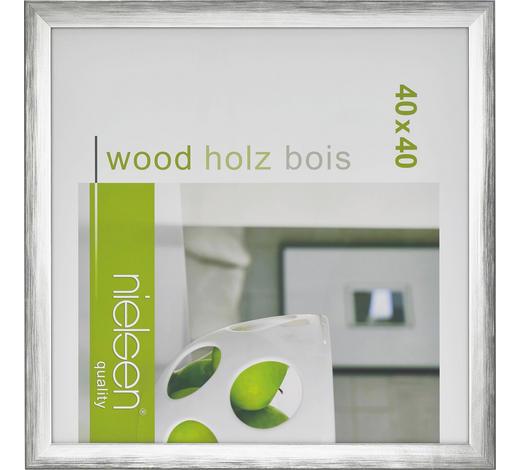 BILDERRAHMEN  Silberfarben - Silberfarben, Basics, Holz (40/40cm) - Nielsen