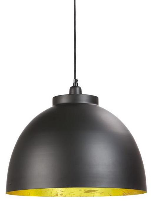 HÄNGELEUCHTE - Goldfarben/Schwarz, KONVENTIONELL, Metall (30cm)