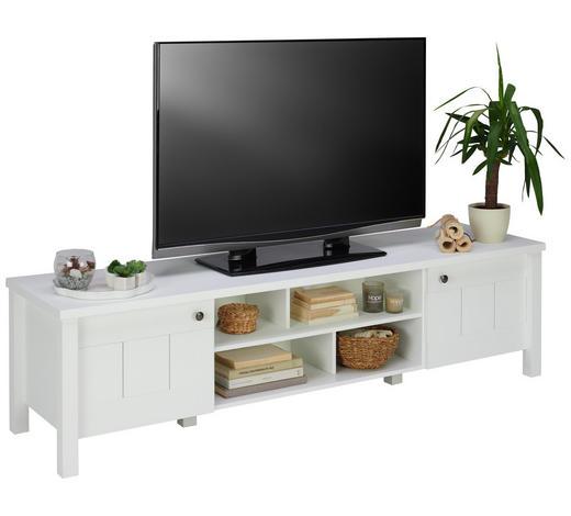 TV DÍL, bílá - bílá/bronzová, Lifestyle, kov/kompozitní dřevo (196/51/50cm) - Landscape