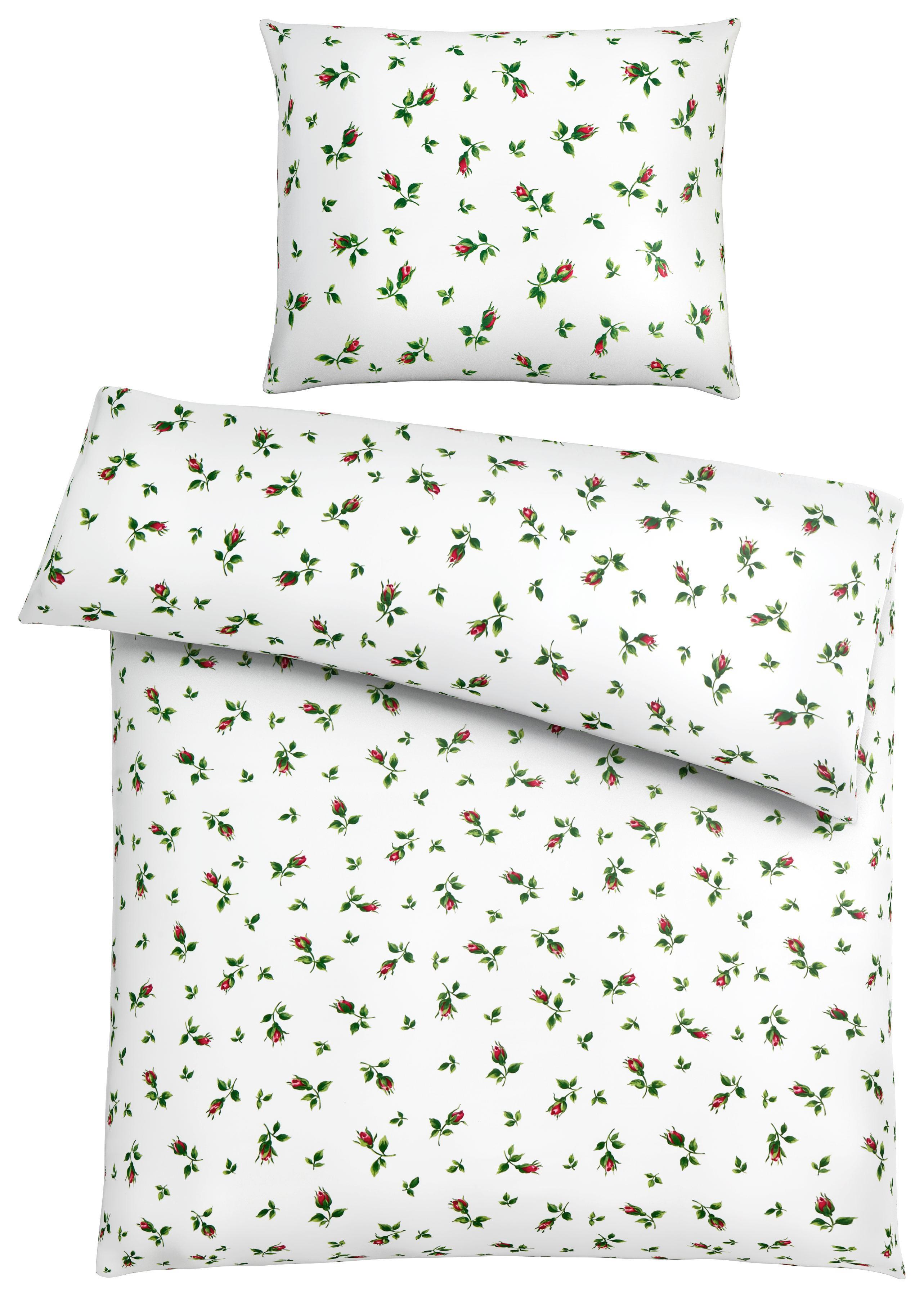 Fussenegger Bettwasche Aus Makosatin Weiss Blumen