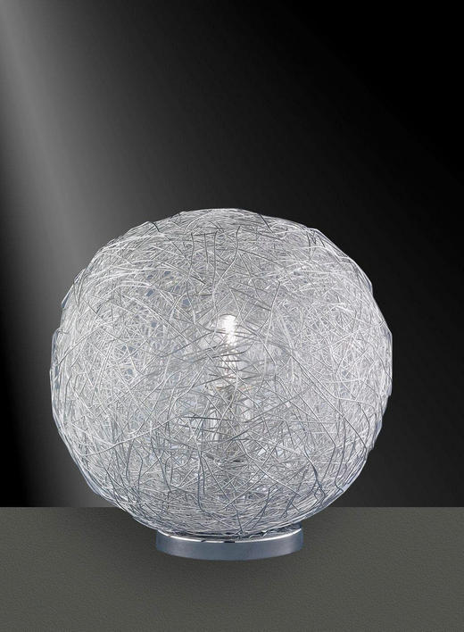 TISCHLEUCHTE - Chromfarben, LIFESTYLE, Metall (30,0/32/30cm)