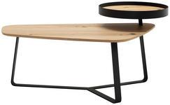 COUCHTISCH in Holz, Metall 110/71,1/40(53,5) cm   - Eichefarben/Anthrazit, Natur, Holz/Metall (110/71,1/40(53,5)cm) - Moderano
