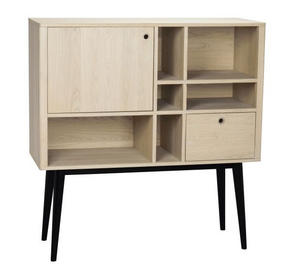 HIGHBOARD - vit/svart, Design, trä (120/125/45cm) - Rowico