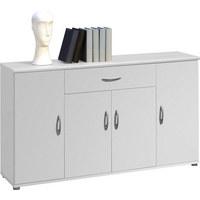 KOMMODE in Weiß - Silberfarben/Weiß, KONVENTIONELL, Holzwerkstoff/Kunststoff (118/70/30cm) - Carryhome