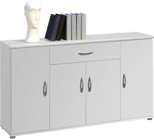KOMMODE 118/70/30 cm  - Silberfarben/Weiß, KONVENTIONELL, Holzwerkstoff/Kunststoff (118/70/30cm) - Carryhome