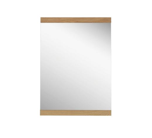 ZRCADLO, 68/80/3 cm,  - barvy dubu, Konvenční, dřevo/sklo (68/80/3cm) - Novel