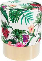 HOCKER Multicolor - Messingfarben/Multicolor, Trend, Textil/Metall (35/42cm) - Kare-Design