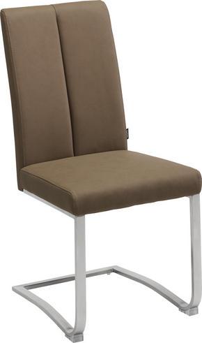 SVIKTSTOL - mullvadsfärgad/gråbrun/rostfritt stål-färgad, Design, metall/textil (43,5/95/62cm) - Xora