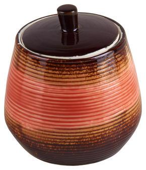 FÖRVARINGSBURK - ljusbrun/mörkbrun, Klassisk, keramik (10/10,5cm) - Ambia Home
