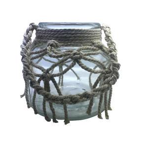 LJUSLYKTA - klar/naturfärgad, Lifestyle, glas/textil (12/12cm) - Ambia Home