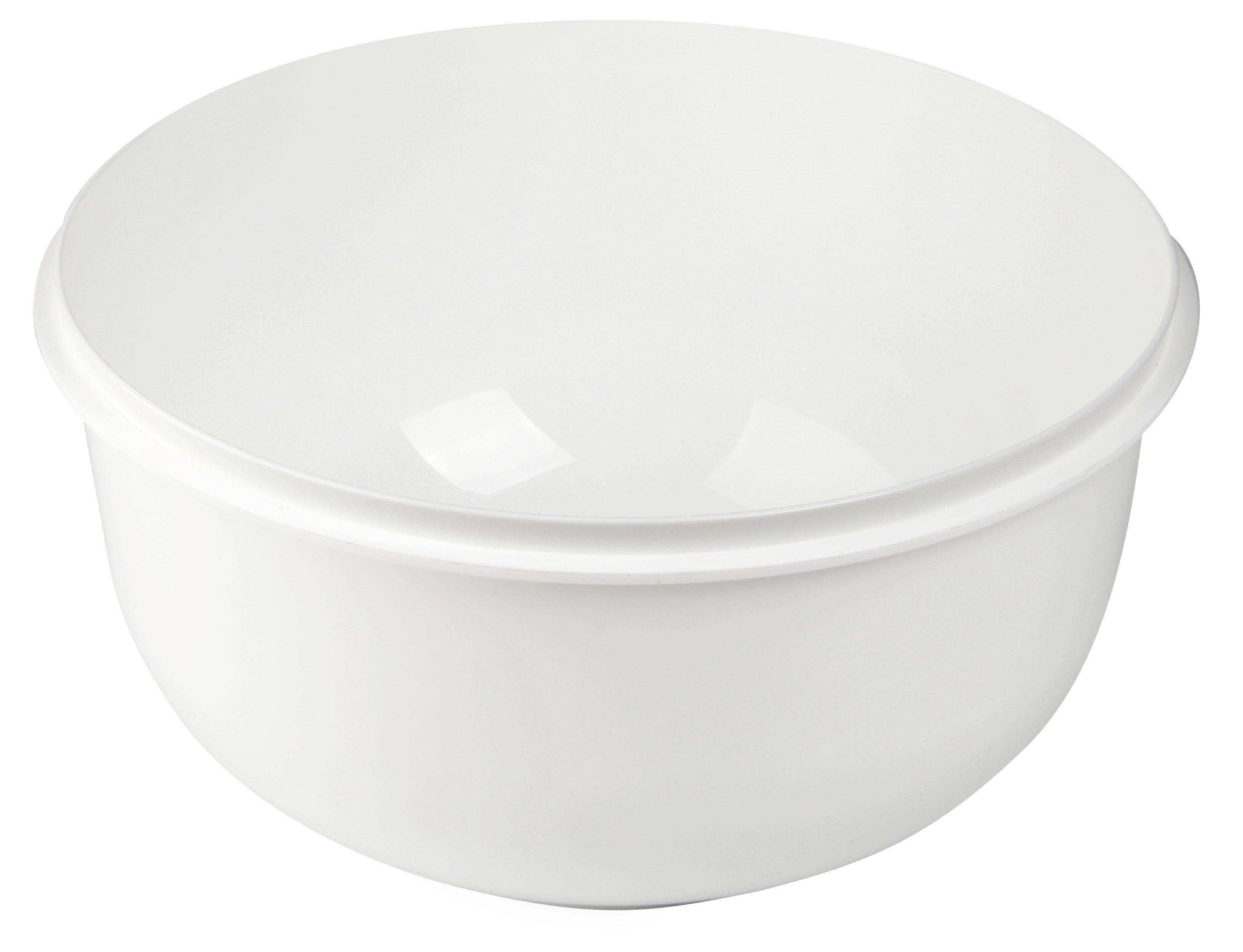 RÜHRSCHÜSSEL - Rosa/Weiß, Kunststoff (28/15cm)