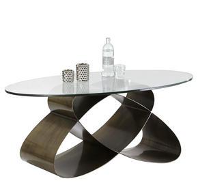 SOFFBORD - bronsfärgad, Design, metall/glas (117/70/47cm) - Novel