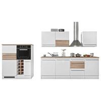 KUHINJSKI BLOK - bijela/boje hrasta, Lifestyle, drvni materijal (240/120/205/144/60cm) - Xora