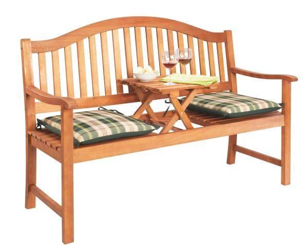 VRTNA KLUPA - smeđa, Konvencionalno, drvo (150/102/64cm) - AMBIA GARDEN