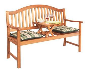 ZAHRADNÍ LAVICE - hnědá, Konvenční, dřevo (150/102/64cm) - AMBIA GARDEN