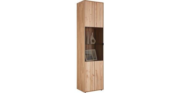 VITRINE in massiv Buche Buchefarben - Anthrazit/Buchefarben, Natur, Glas/Holz (50/206/39cm) - Valnatura