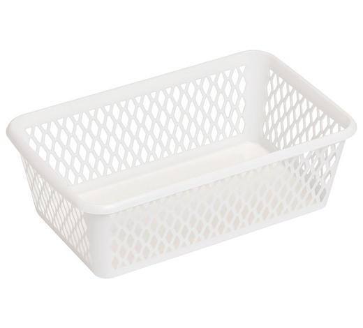 KORB - Weiß, KONVENTIONELL, Kunststoff (25/8/15,5cm) - Plast 1