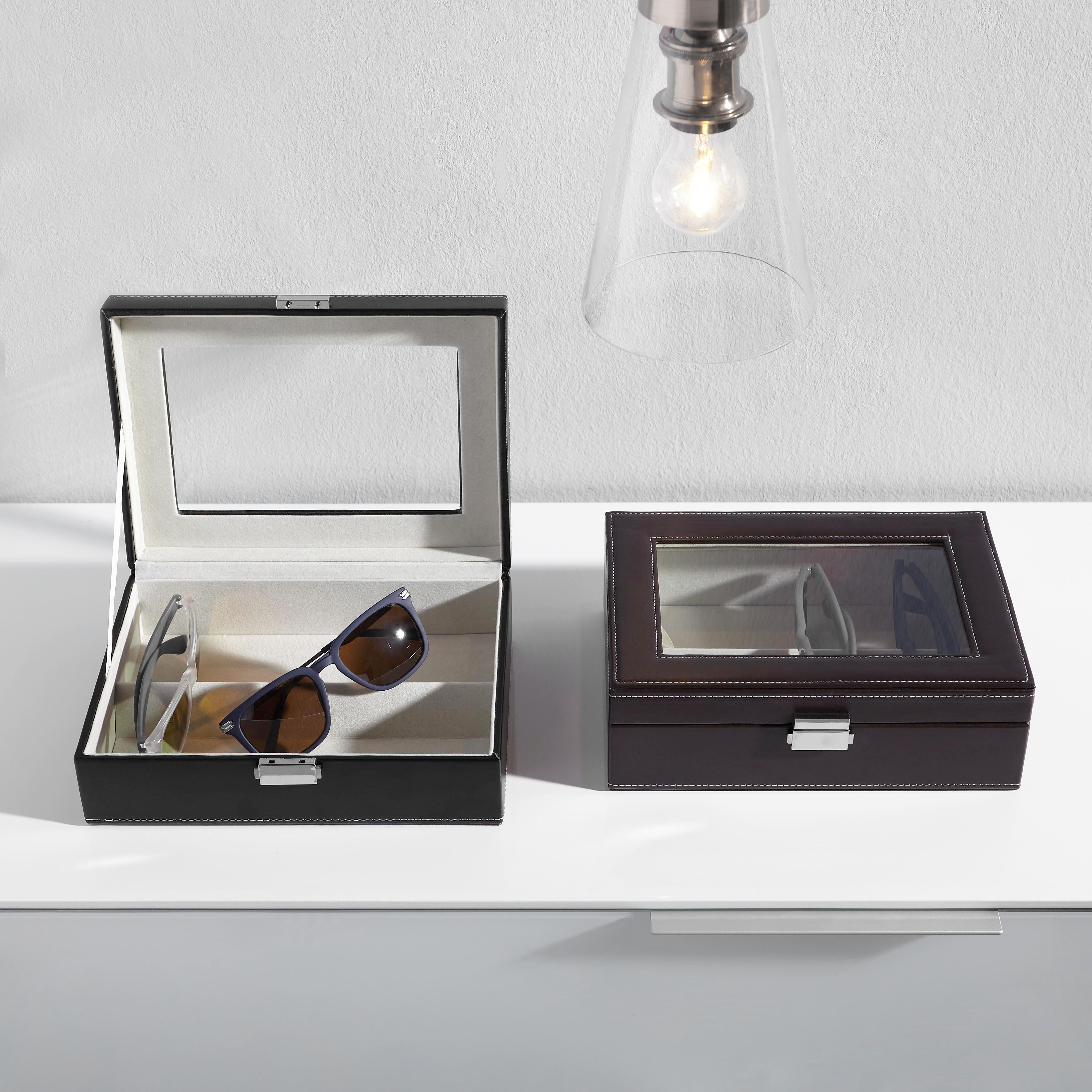 BRILLENBOX BRAUN - Dunkelbraun, Basics (25/18/8,5cm)