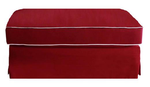 HOCKER Pappel massiv, teilmassiv Bordeaux - Bordeaux/Weiß, LIFESTYLE, Holz/Textil (107/46/64cm)