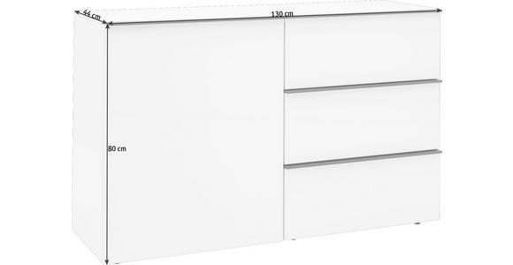 SIDEBOARD 130/80/44 cm - Eichefarben/Schwarz, Design, Holzwerkstoff/Kunststoff (130/80/44cm) - Dieter Knoll