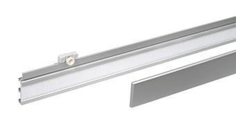PANEELWAGEN - Alufarben/Weiß, Design, Kunststoff/Metall (60/3.7cm) - Homeware