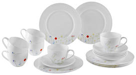 Bone China  KAFFEESERVICE 18-teilig - Multicolor, Basics - Novel