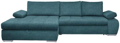 WOHNLANDSCHAFT in Textil Petrol  - Chromfarben/Petrol, Design, Kunststoff/Textil (173/294cm) - Carryhome