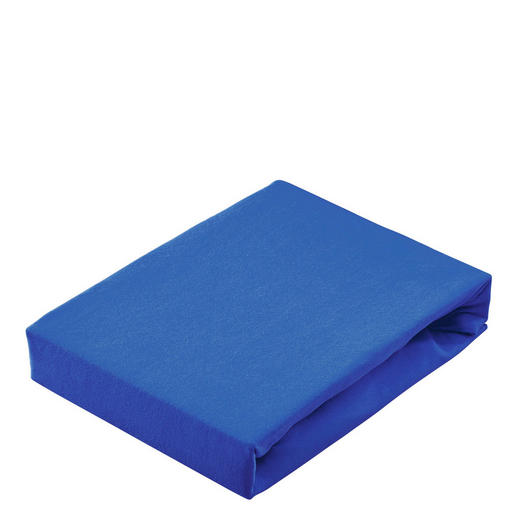 SPANNBETTTUCH Jersey Blau - Blau, Basics, Textil (100/200cm) - Linea Natura